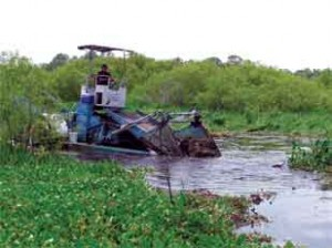 Machinery for Lake Restoration. FWC Photo.