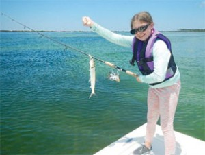 Katlyn has crossed a number of fish off her life list including this ladyfish.